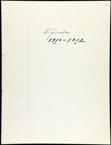 Memorias del general Lázaro Cárdenas: episodios 1910-1920