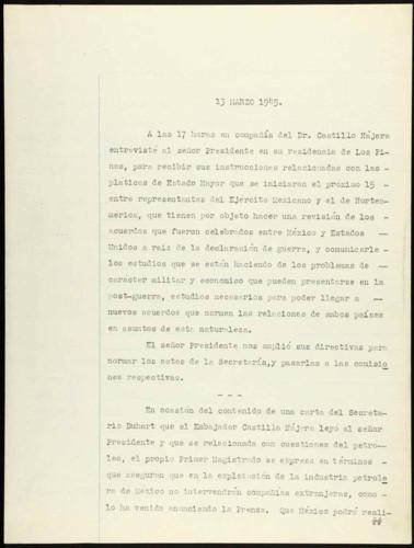 Memorias del general Lázaro Cárdenas: Apuntes 1945