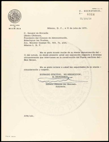 Vida laboral del general Lázaro Cárdenas: Circunstancias en la construcción del Puerto Marítimo del Bajo Balsas.