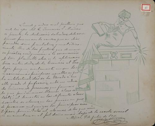 Lámina de Juan Andreu Almazán para Francisco I. Madero (atribuido)