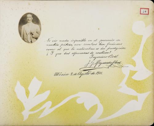 Lámina de Ingeniero Civil, J. G. Higareda Reed, Miembro de la Comisión Nacional de Partidos Aliados 1910 para Francisco I. Madero (atribuido)