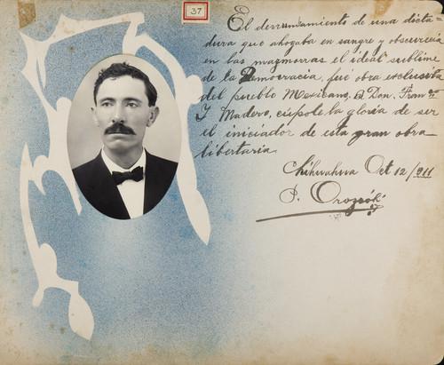 Lámina de [P. Orozco] para Francisco I. Madero (atribuido)
