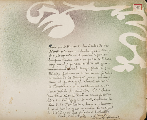 Lámina del Coronel Marcelo Caraveo, orozquista, para Francisco I. Madero (atribuido)