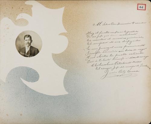 Lámina del Mayor Jesús Ortíz Carrera, Jefe del Cuerpo de Gendarmes para Francisco I. Madero (atribuido)