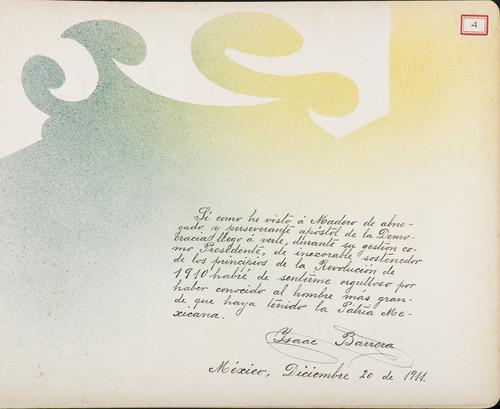 Lámina de Isaac Barrera para Francisco I. Madero (atribuido)