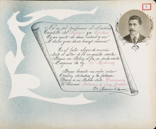 Lámina del Dr. Federico R. Ramos para Francisco I. Madero (atribuido)