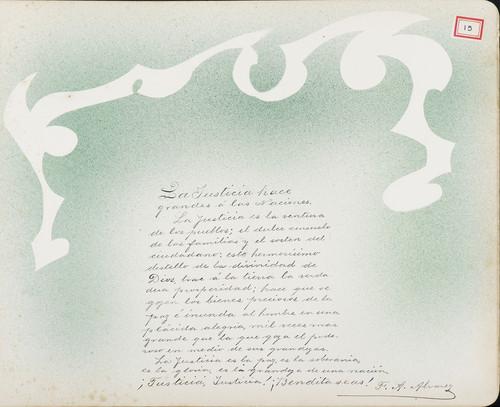 Lámina de F. A. Álvarez para Francisco I. Madero (atribuido)