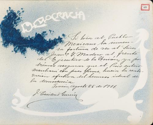Lámina de J. Casillas García para Francisco I. Madero (atribuido)