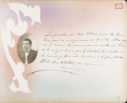 Lámina de Pascual  Mejia para Francisco I. Madero (atribuido)