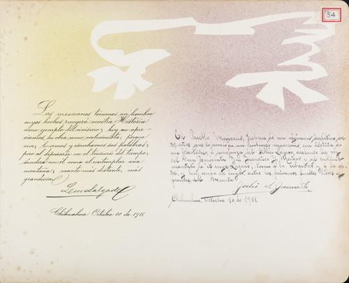 Lámina de Luis Salgado y Julio S. [Jamila] para Francisco I. Madero (atribuido)