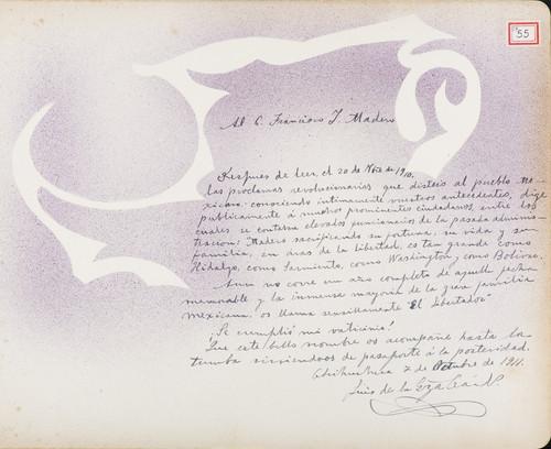 Lámina de Luis de la [E.] para Francisco I. Madero (atribuido)