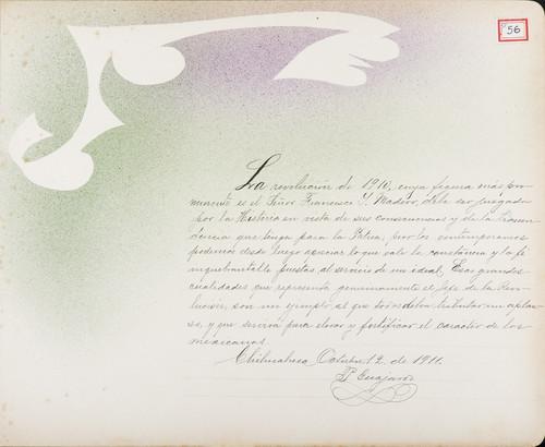 Lámina de P. Guajardo para Francisco I. Madero (atribuido)
