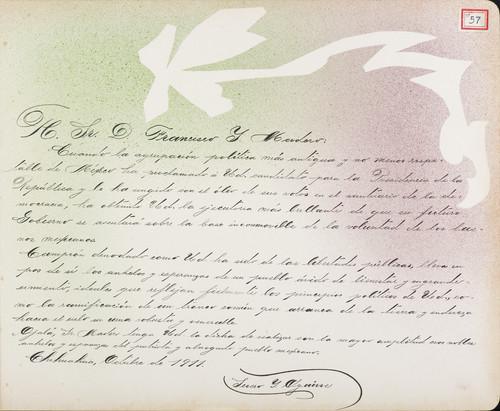 Lámina de Severo I. Aguirre; para Francisco I. Madero (atribuido)