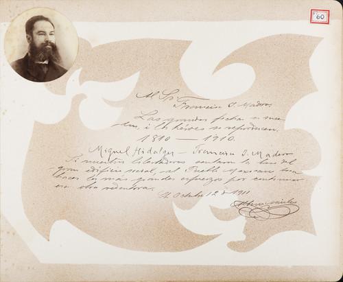 Lámina de Albino Aviles para Francisco I. Madero (atribuido)