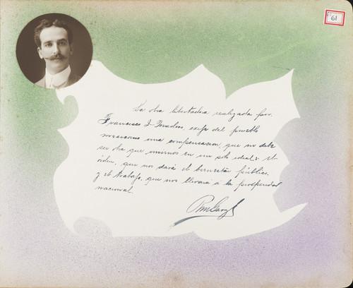 Lámina de R. M. Garza para Francisco I. Madero (atribuido)