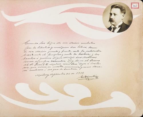 Lámina de G. Martínez para Francisco I. Madero (atribuido)