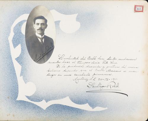 Lámina de Santiago Roel para Francisco I. Madero (atribuido)
