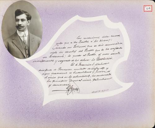 Lámina de [C.] González para Francisco I. Madero (atribuido)