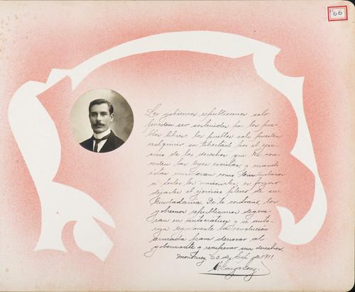 Lámina de C. Garza González para Francisco I. Madero (atribuido)