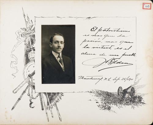 Lámina de [H. Elden] para Francisco I. Madero (atribuido)