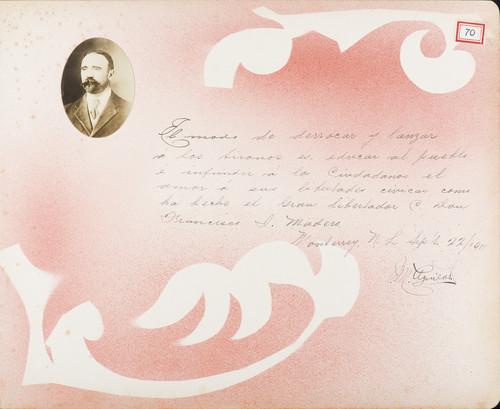 Lámina de M. Aguilar para Francisco I. Madero (título atribuido)