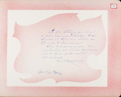 Lámina de Francisco M. del Campo para Francisco I. Madero (atribuido)