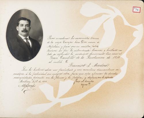 Lámina de [A. Morales] para Francisco I. Madero (atribuido)