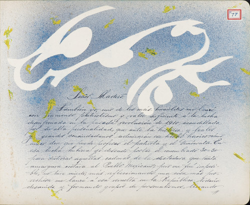 Lámina de J. Uriel Carrasco para Francisco I. Madero (atribuido)