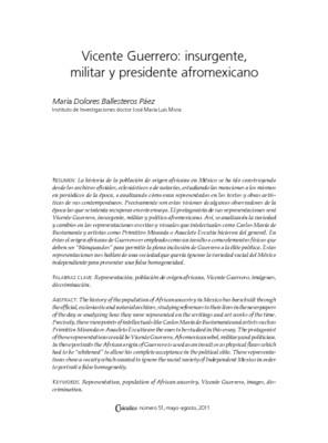 Vicente Guerrero: insurgente, militar y presidente afromexicano