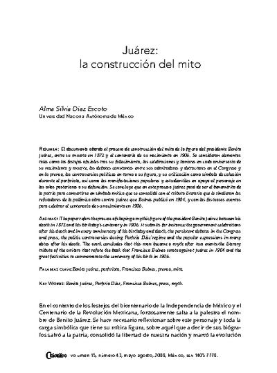 Juárez: la construcción del mito