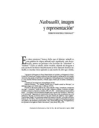 Nahualli, imagen y representación