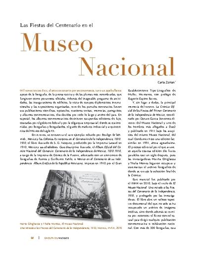 Las Fiestas del Centenario en el Museo Nacional