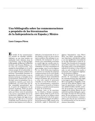 Una bibliografía sobre las conmemoraciones a propósito de los bicentenarios de la Independencia en España y México