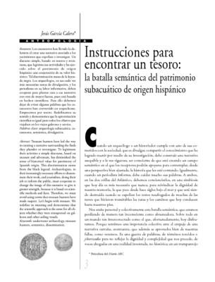 Instrucciones para encontrar un tesoro: la batalla semántica del patrimonio subacuático de origen hispánico.