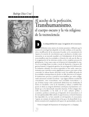 Al acecho de la perfección. Transhumanismo, el cuerpo oscuro y la vía religiosa de la tecnociencia