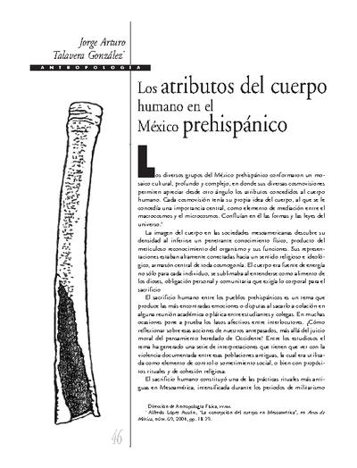 Los atributos del cuerpo humano en el México prehispánico