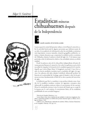 Estadísticas mineras chihuahuenses después de la Independencia