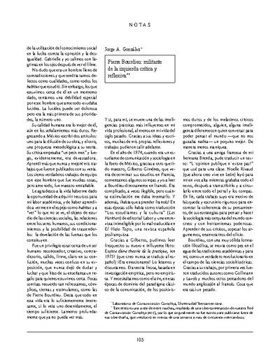 Pierre Bourdieu, militante de la izquierda crítica y reflexiva