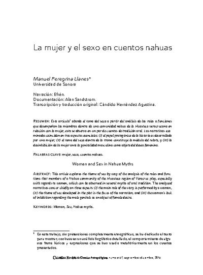 La mujer y el sexo en cuentos nahuas
