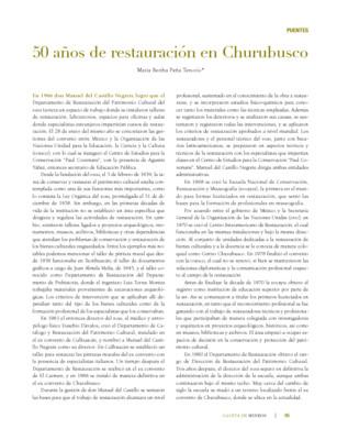 50 años de la restauración en Churubusco