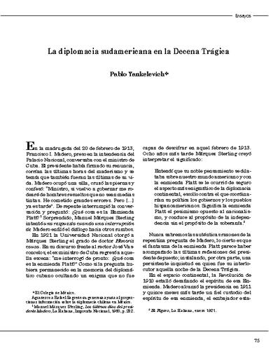 La diplomacia sudamericana en la Decena Trágica