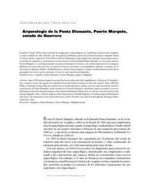 Arqueología de la Punta Diamante, Puerto Marqués, estado de Guerrero