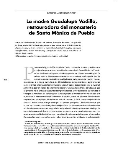 La madre Guadalupe Vadillo, restauradora del monasterio de Santa Mónica de Puebla