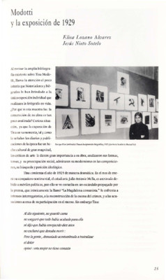 Modotti y la exposición de 1929