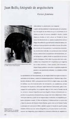 Juan Rulfo, fotógrafo de arquitectura