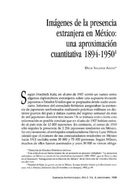 Imágenes de la presencia extranjera en México: una aproximación cuantitativa 1894-1950