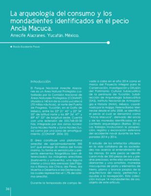 La arqueología del consumo y los mondadientes identificados en el pecio Ancla Macuca