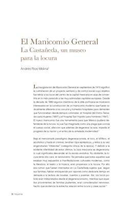 El Manicomio General. La Castañeda, un museo para la locura