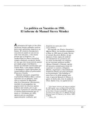 La política en Yucatán en 1901. El informe de Manuel Sierra Méndez