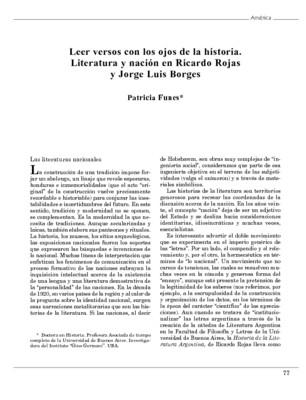 Leer versos con los ojos de la historia. Literatura y nación en Ricardo Rojas y Jorge Luis Borges